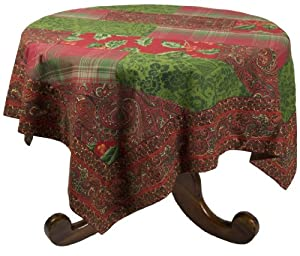 April Cornell 54 by 54-Inch Tablecloth, Joyful Patchwork