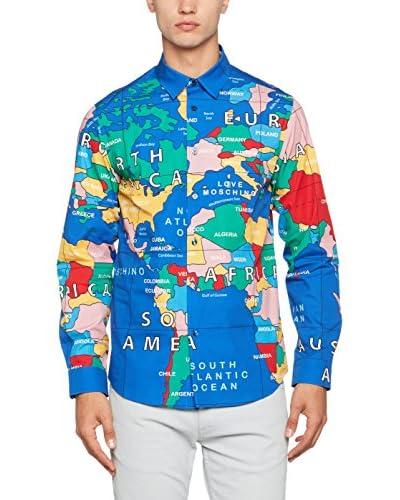 Love Moschino Camisa Hombre Azul / Multicolor