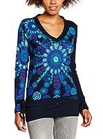 Desigual Camiseta Manga Larga Azul Rep (Azul)
