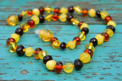 Baroque Multicolored Baltic Amber Teething Necklace for Babies - 1
