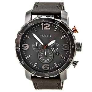 Fossil Herren-Armbanduhr XL Analog Quarz Leder JR1419