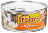 51aAOhBcRkL. SL160  Friskies Cat Food Classic Pate, Poultry Platter, 5.5 Ounce Cans (Pack of 24)