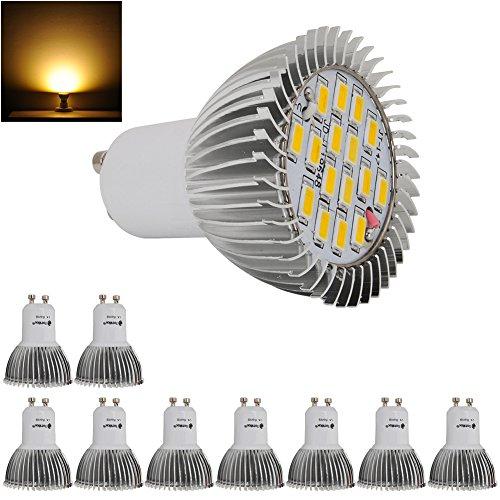 10X 8W High Power Gu10 Led Light Ultra Bright Lamp Bulb 5630 Smd Warm White 230V
