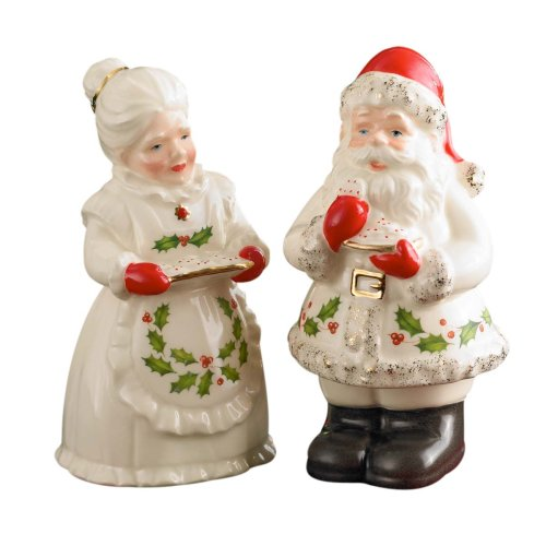 Holiday Santa & Mrs Claus Salt & Pepper Set - Buy Holiday Santa & Mrs Claus Salt & Pepper Set - Purchase Holiday Santa & Mrs Claus Salt & Pepper Set (Lenox, Home & Garden, Categories, Kitchen & Dining, Cook's Tools & Gadgets, Tool & Gadget Sets)