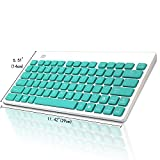 Keyboard and Mouse Combo, Foxcesd 2.4GHz Ultra Compact Wireless Whisper-Quiet Portable Keyboard / Mouse Combo No Laser Light Mouse With 2-in-1 Nano Receiver for PC and Mac (Green)