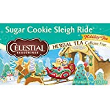 Celestial Seasonings Sugar Cookie Sleigh Ride Herbal Tea, 20 Count