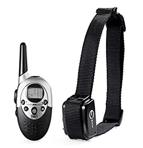 [2014 Latest] Esky EP-R800-B1 UP to 800M (2500ft) Range Rechargeable LCD Remote Shock Control Pet Dog Training Collar with Backlit Display and 8 Level of Vibration+ 8 Level of Static Shock+ Tone For Medium and Large Dogs (50lb-180lb) (One Collar)