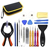 E-Durable LCD Screen Opening Pliers, Universial Screen Replacement Repair Full Kits for Iphones,5s, 6s, 6plue, Ipads, Ipad Air, Ipods, Samsung Galaxy and More (19 Pcs Set)