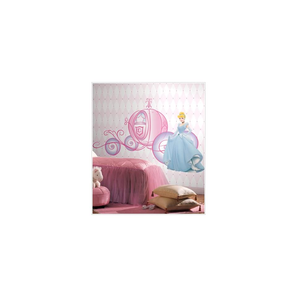 Disney Princess Cinderella & Carriage Giant Wall Decals