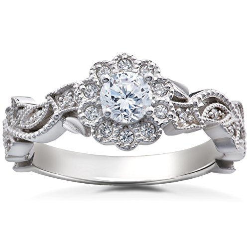 55CT-Vintage-Diamond-Vintage-Petal-Engagement-Ring-14K-White-Gold