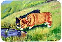 Carolines Treasures 7292CMT Corgi Kitchen or Bath Mat, 20 by 30 , Multicolor