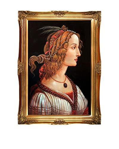 """Sandro Botticelli """"Portrait Of A Young Woman"""" Reproduction Oil Painting"""