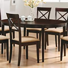 Mix and Match Dining Dinette Table Chairs Cappuccino Espresso Finish 42 x 42-60 with 18 Inch Extension 100770