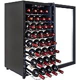 32 BTL Electric Wine Cooler Cellar Chiller Single Zone Blk AZ-ea45ec-75