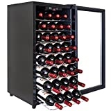 32 btl electric wine cooler cellar chiller single zone blk az ea45ec 75
