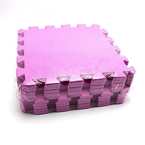 10 Stück Baby Puzzle Spielen Spielzeug Bodenpuzzlematten Verriegelung Schaum Krabbeln Matte Naht Decken Pfirsch