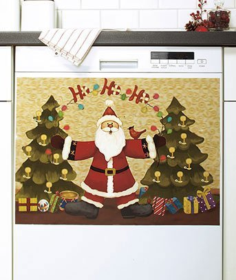 1 X Glow-in-the-Dark Santa Dishwasher Magnet Art