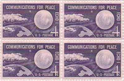 Communications for Peace Set of 4 x 4 Cent US Postage Stamps NEW Scot 1173