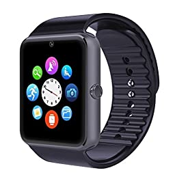 Padgene NFC Bluetooth GSM Camera Smart Watch for Android Smartphones - Black