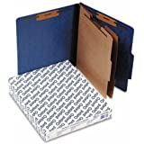 New-Pendaflex 1257BL - Pressguard Classification Folders, Letter, Six-Section, Blue, 10/Box - ESS1257BL