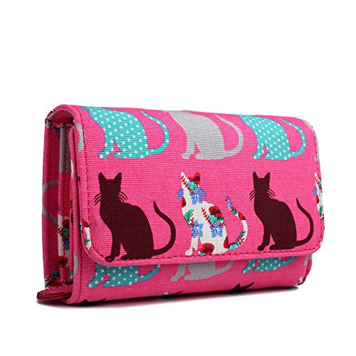 miss-lulu-canvas-cat-dog-clutch-wallet-organiser-purse-cat-pink