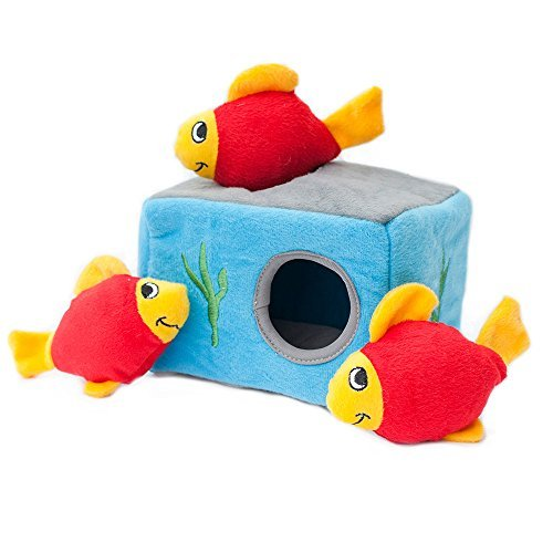 ZippyPaws-Burrow-Squeaky-Hide-and-Seek-Plush-Dog-Toy-Aquarium