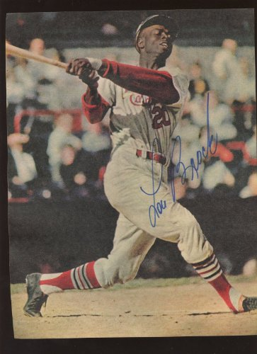 Lou Brock St. Louis Cardinals Autographed Magazine Page Swinging Hologram at Amazon.com