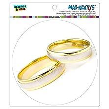 buy Wedding Rings Love Romance Mag-Neato'S(Tm) Automotive Car Refrigerator Locker Vinyl Magnet