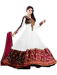 White World Women's Georgette Salwar Suit (12_Sainx White_White_Freesize )