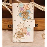 JANDM(TM) For Samsung Galaxy S Duos S7562 / GT-S7560M 3D Crystal Diamond Rhinestone Flip Wallet PU Leather Protective... by JANDM