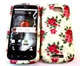 Designer Retro Shabby Chic Vintage Red Rose Htc One S Case Full Cover Front and Back