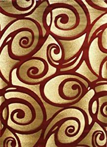 Amazon Com Modern Area Rug S 241 Red 8 Ft X 10 Ft 6