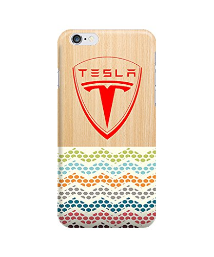 "Apple Iphone 6 4.7"" Case - The Best 3D Full Wrap Iphone Case - Tesla Motors Logo Electric Cars Wood Wood Chevron"