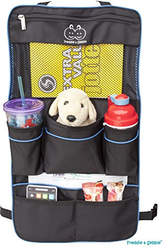 Freddie and Sebbie Backseat Organizer - Luxury Backseat Car Organizer For Kids - Auto Seat Back Cover Protector and Storage - Fits Most Different Suv or Car (Door Dvd Car compare prices)