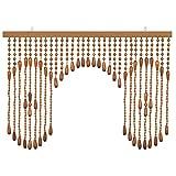珠のれん アーチタイプ 日本製 間仕切 ひものれん 暖簾 玉のれん たまのれん 昭和レトロ すだれ ベージュ