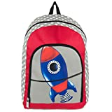 Unisex Children Rockets Design Travel Gadget Play Backpack Fits Impecca Portable DVD Players