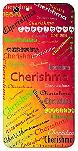 Cherishma (Bright) Name & Sign Printed All over customize & Personalized!! Protective back cover for your Smart Phone : Moto X-STYLE
