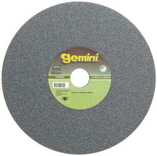 Norton Gemini Bench and Pedestal Abrasive Wheel, Type 01 Straight, Silicon Carbide, 1