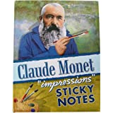 Monet Sticky Notes in 3 Sizes, with Art Illustrations