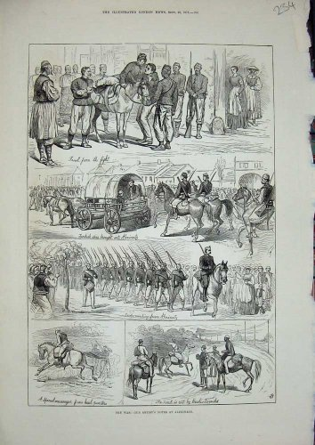 1876 War Alexinatz Soldiers Turkish Spies Horse Bazouks