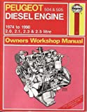 Haynes Workshop Manual for Peugeot 504 and 505 Diesel Engine 1974 - 1990