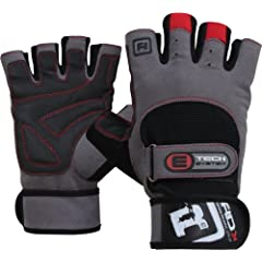 Buy Authentic RDX Leather Weight lifting Training Gloves Gym Strap Grip by RDX