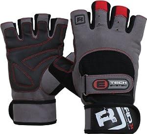 gants entraînement altérophilie en cuir vachette RDX, gants entraînement avec attache poignet
