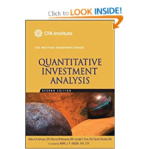 Quantitative Investment Analysis David E. Runkle Cfa, Dennis W. Mcleavey Cfa, Jerald E. Pinto Cfa, Mark J. Anson Cfa, Richard A. Defusco Cfa