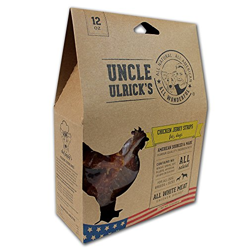 Uncle Ulrick's All Natural and All American Chicken Jerky Strips for Dogs, 12 oz (All Natural Pet Food compare prices)