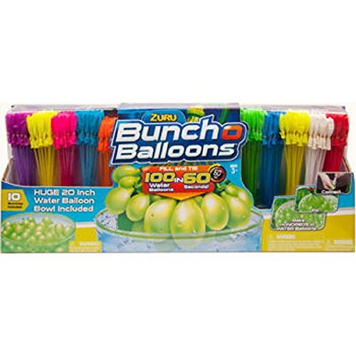 "Zuru Bunch O Balloons, Fill In 60 Seconds, 350 Water Balloons, 20"" Water Balloon Bowl Included"