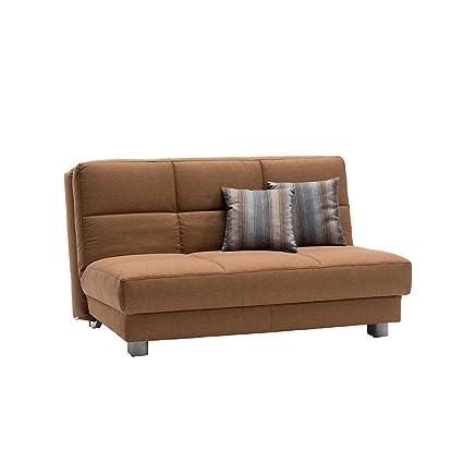 Schlafsofa in Braun Stoff Breite 160 cm Sitzplätze 3 Sitzplätze Pharao24
