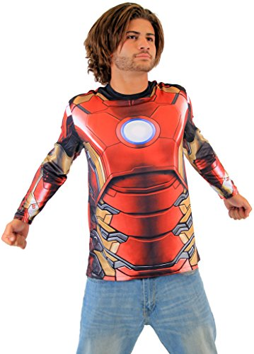 Marvel Iron Man sublimiert LONG SLEEVE Kostüm T-Hemd (Erwachsener Large)