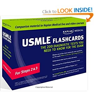 Kaplan Medical USMLE Flashcards: The 200 Diagnostic Tests You Need to Know for the Exam: For Steps 2 & 3 51aAw-CD0bL._BO2,204,203,200_PIsitb-sticker-arrow-click,TopRight,35,-76_AA300_SH20_OU01_
