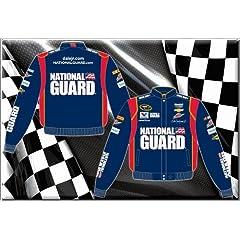 Dale Earnhardt Jr. National Guard Mens Navy Twill 2014 Nascar Jacket by RacingGifts
